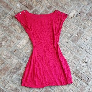 New Express shirt dress fuchsia pink M